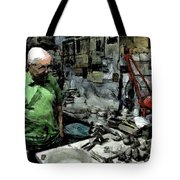 Old Craftsman Portrait In The Laboratory Tote Bag