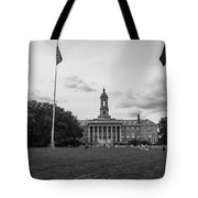 Old Main Penn State Black And White  Tote Bag