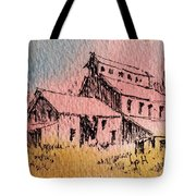 Old Mill Cable Ghost Town Montana_ Tote Bag