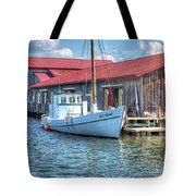 Old Point Crabbing Boat Tote Bag