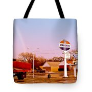 Old Signs At The Mother Road - Standard Oil And Motel - Route 66 Tote Bag