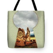 Old Spanish Trail Marker Tote Bag