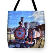 Old Steam Train In Nafplio Town Tote Bag