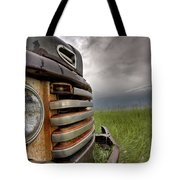 Old Vintage Truck On The Prairie Tote Bag