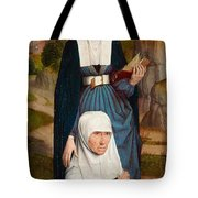 Old Woman At Prayer With St. Anne Tote Bag