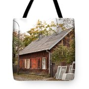 Old Wooden House With Tar Tote Bag