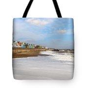 On A Beach Tote Bag