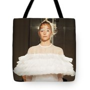 On The Catwalk Of London Fashion Week 2015 Tote Bag