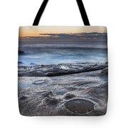 On The Ledge - Sunrise Seascape Tote Bag