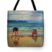On The Seashore Of Endless Worlds Children Meet  Tote Bag