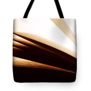 Open Old Book With Pages Fluttering Tote Bag