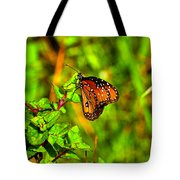 Orange Butterfly Too Tote Bag
