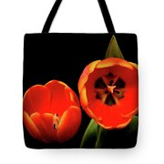 Orange Tulip Macro Tote Bag