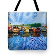 Original Abstract Painting On Canvas Tote Bag