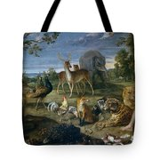 Orpheus And Animals Tote Bag