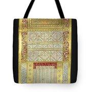 Ottoman Calendar, 19th Century Tote Bag