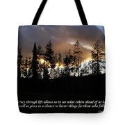Our Journey Through Life... Tote Bag