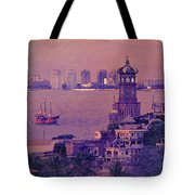 Our Lady Of Guadalope In Puerto Vallerta Mexico. Banderas Bay. Tote Bag
