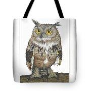 Owl In Pose Tote Bag