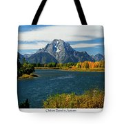 Oxbow Bend In Autumn Tote Bag by Greg Norrell