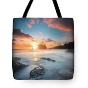 Pacific Sunset At Olympic National Park Tote Bag