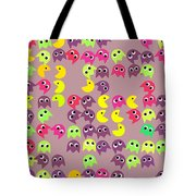 Pacman Seamless Generated Pattern Tote Bag