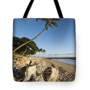Palm And Driftwood Tote Bag