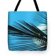Palm Frond Silhouette Tote Bag
