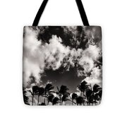 Palms Blowing In The Wind Tote Bag
