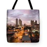 Panama City At Night Tote Bag