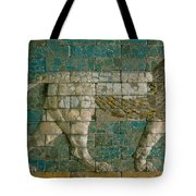 Panel With Striding Lion Tote Bag