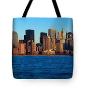 Panoramic Sunset View Of Lower Tote Bag