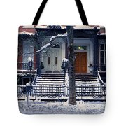 Panoramic View Of Historic Homes Tote Bag