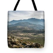 Panoramic View Of Monte Grosso And The Mountains Of Corsica Tote Bag