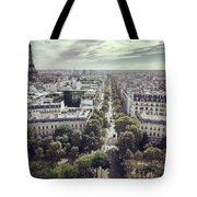 Paris Cityscape From Above, France Tote Bag