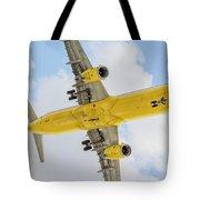 Passenger Jet Coming In For Landing  Tote Bag