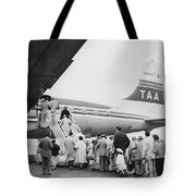 Passengers Boarding Airplane Tote Bag