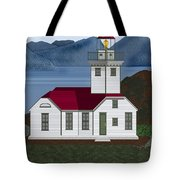Patos Island Lighthouse Tote Bag