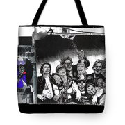 Patriotic Posters Midway Arizona State Fair Phoenix 1967 Collage Color Added 2012 Tote Bag