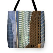 Peace Tower Abstract Tote Bag