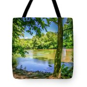 Peaceful On The River Tote Bag