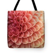 Peachy Dahlia Tote Bag