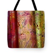 Peacocks On Silk Tote Bag