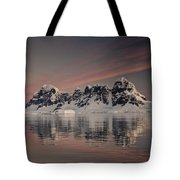 Peaks At Sunset Wiencke Island Tote Bag by Colin Monteath