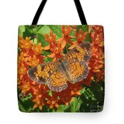 Pearly Crescentspot Butterfly Tote Bag