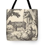 Peasant Couple With Cow Tote Bag