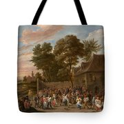 Peasants Dancing And Feasting Tote Bag