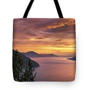 Pend Oreille Sunrise Tote Bag