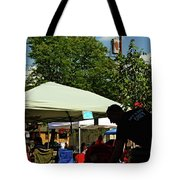 People At Food Event Tote Bag