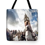 People Crossing In Central London Tote Bag